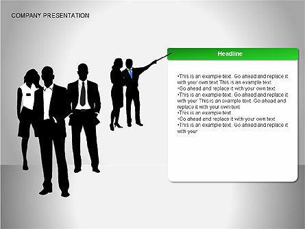 Company Presentation Diagrams, 00075, Organizational Charts — PoweredTemplate.com
