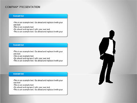 Company Presentation Diagrams, Slide 10, 00075, Organizational Charts — PoweredTemplate.com
