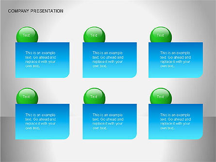 Company Presentation Diagrams, Slide 11, 00075, Organizational Charts — PoweredTemplate.com