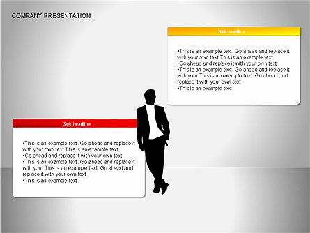 Company Presentation Diagrams, Slide 14, 00075, Organizational Charts — PoweredTemplate.com