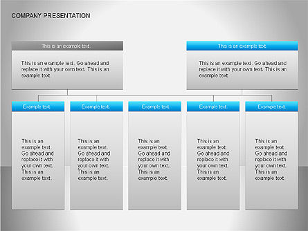 Company Presentation Diagrams, Slide 15, 00075, Organizational Charts — PoweredTemplate.com