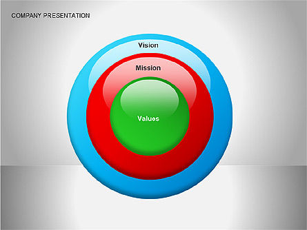 Company Presentation Diagrams, Slide 4, 00075, Organizational Charts — PoweredTemplate.com