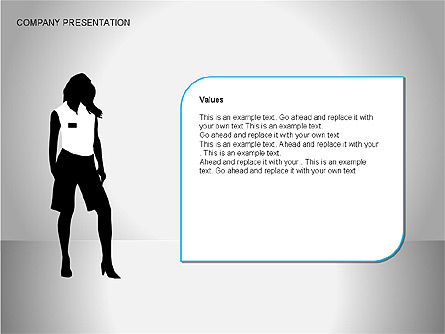 Company Presentation Diagrams, Slide 5, 00075, Organizational Charts — PoweredTemplate.com