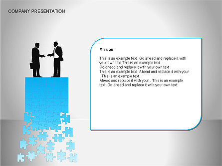Company Presentation Diagrams, Slide 6, 00075, Organizational Charts — PoweredTemplate.com