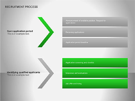 Recruitment Process Diagrams, Slide 10, 00077, Process Diagrams — PoweredTemplate.com