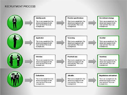 Recruitment Process Diagrams, Slide 12, 00077, Process Diagrams — PoweredTemplate.com