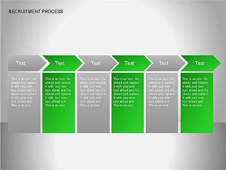 Recruitment Process Diagrams, Slide 14, 00077, Process Diagrams — PoweredTemplate.com