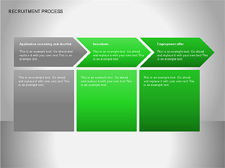 Recruitment Process Diagrams, Slide 2, 00077, Process Diagrams — PoweredTemplate.com