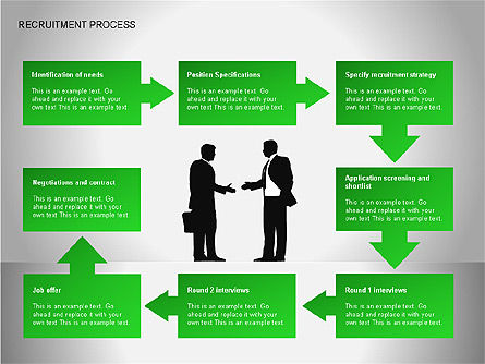 Recruitment Process Diagrams, Slide 3, 00077, Process Diagrams — PoweredTemplate.com