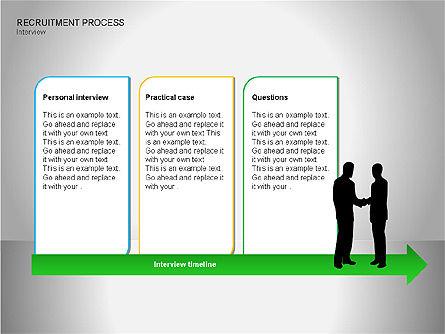 Recruitment Process Diagrams, Slide 8, 00077, Process Diagrams — PoweredTemplate.com