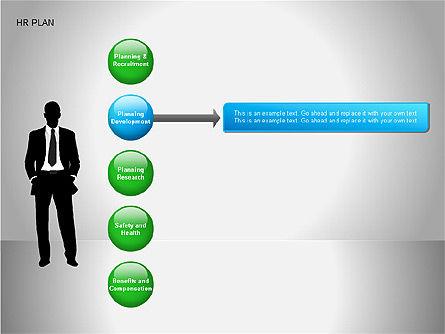 Human Resources Plan Diagrams, Slide 11, 00078, Process Diagrams — PoweredTemplate.com