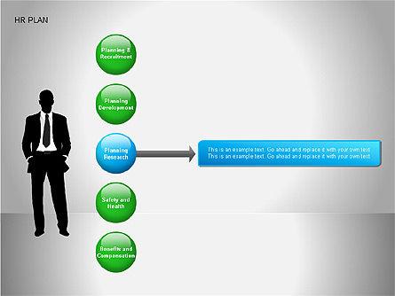 Human Resources Plan Diagrams, Slide 12, 00078, Process Diagrams — PoweredTemplate.com
