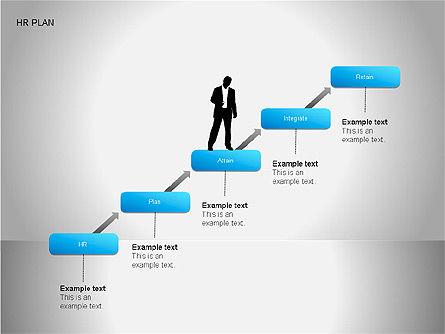 Human Resources Plan Diagrams, Slide 7, 00078, Process Diagrams — PoweredTemplate.com