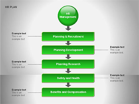 Human Resources Plan Diagrams, Slide 9, 00078, Process Diagrams — PoweredTemplate.com