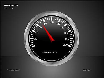 Speedometer Shapes, 00081, Shapes — PoweredTemplate.com
