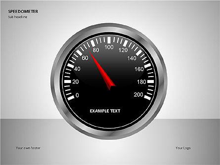 Speedometer Shapes, Slide 2, 00081, Shapes — PoweredTemplate.com