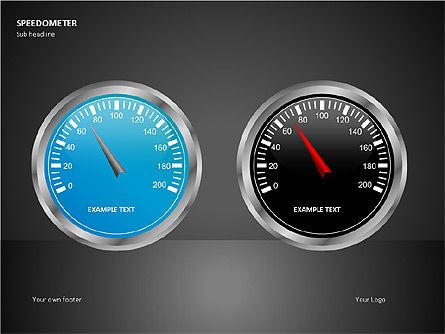 Speedometer Shapes, Slide 3, 00081, Shapes — PoweredTemplate.com