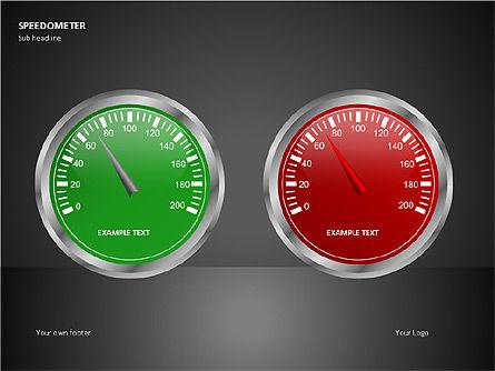 Speedometer Shapes, Slide 4, 00081, Shapes — PoweredTemplate.com