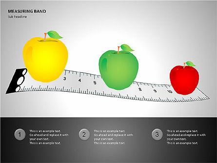 Measuring Band, Slide 10, 00082, Shapes — PoweredTemplate.com