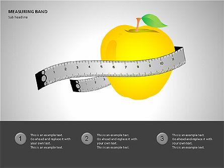 Measuring Band, Slide 5, 00082, Shapes — PoweredTemplate.com