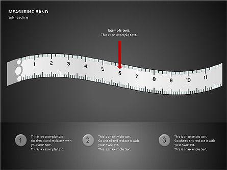 Measuring Band, Slide 6, 00082, Shapes — PoweredTemplate.com