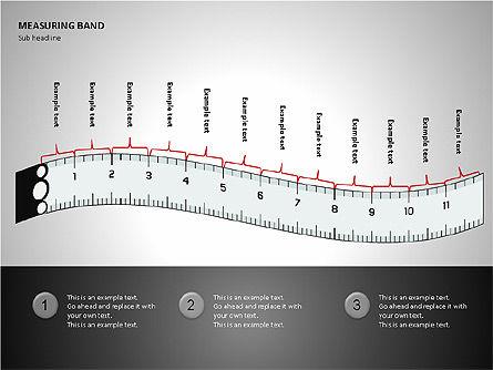 Measuring Band, Slide 7, 00082, Shapes — PoweredTemplate.com