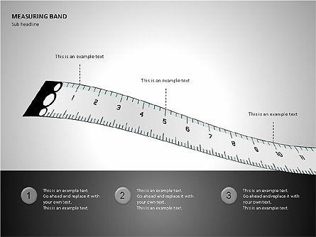 Measuring Band, Slide 8, 00082, Shapes — PoweredTemplate.com