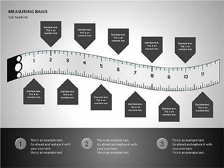 Measuring Band, Slide 9, 00082, Shapes — PoweredTemplate.com