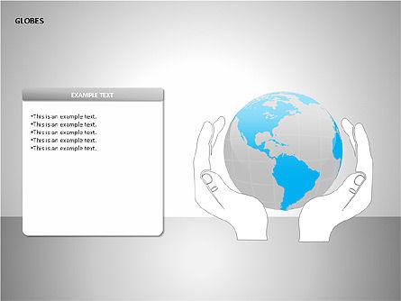 3D Globes, Slide 10, 00083, Shapes — PoweredTemplate.com
