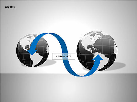 3D Globes, Slide 12, 00083, Shapes — PoweredTemplate.com