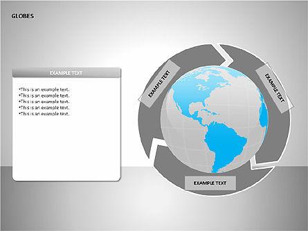 3D Globes, Slide 13, 00083, Shapes — PoweredTemplate.com
