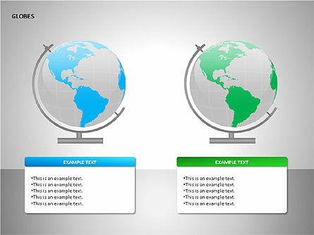 3D Globes, Slide 15, 00083, Shapes — PoweredTemplate.com