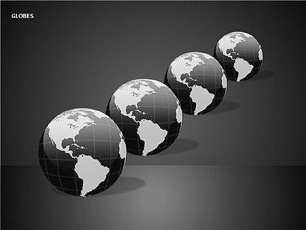 3D Globes, Slide 4, 00083, Shapes — PoweredTemplate.com