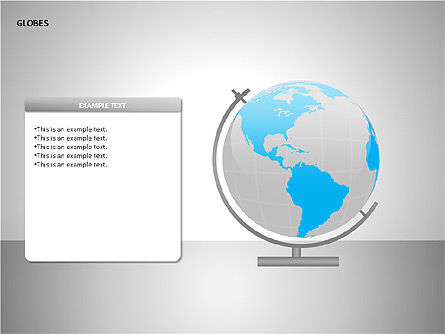 3D Globes, Slide 5, 00083, Shapes — PoweredTemplate.com