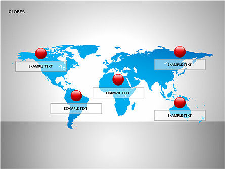3D Globes, Slide 8, 00083, Shapes — PoweredTemplate.com