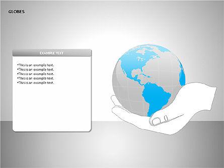 3D Globes, Slide 9, 00083, Shapes — PoweredTemplate.com