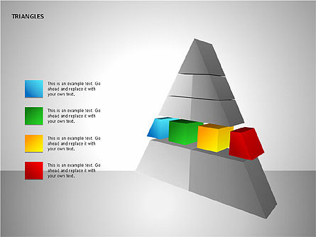 Sectored Pyramids Shapes, Slide 10, 00085, Shapes — PoweredTemplate.com