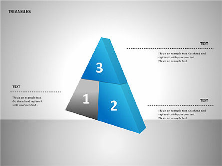 Sectored Pyramids Shapes, Slide 5, 00085, Shapes — PoweredTemplate.com