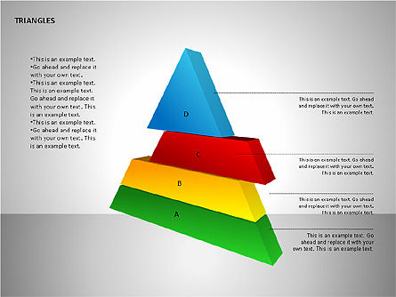 Sectored Pyramids Shapes, Slide 6, 00085, Shapes — PoweredTemplate.com