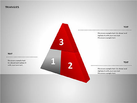 Sectored Pyramids Shapes, Slide 7, 00085, Shapes — PoweredTemplate.com