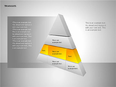 Sectored Pyramids Shapes, Slide 8, 00085, Shapes — PoweredTemplate.com