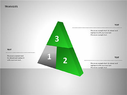 Sectored Pyramids Shapes, Slide 9, 00085, Shapes — PoweredTemplate.com