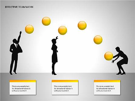 Effective Teamwork Shapes Slide 3