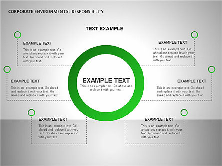 Environmental Responsibility Diagrams, Slide 12, 00087, Organizational Charts — PoweredTemplate.com