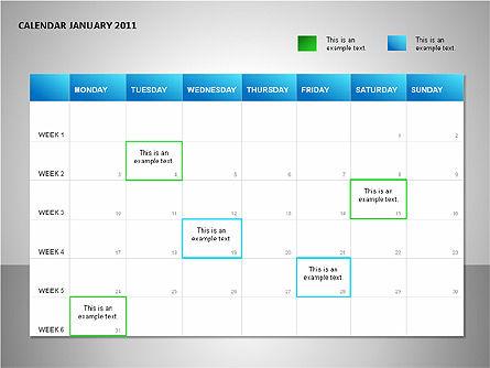 Timelines & Calendars: Project Calendar Blue #00089