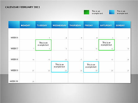 Project Calendar Blue Slide 2