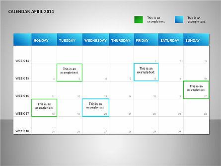 Project Calendar Blue Slide 4