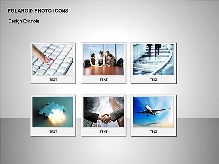 Polaroid Icons, Slide 3, 00090, Icons — PoweredTemplate.com