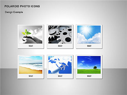 Polaroid Icons, Slide 6, 00090, Icons — PoweredTemplate.com