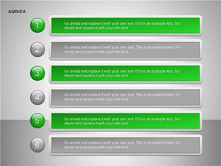 Agenda Lists, Slide 10, 00092, Text Boxes — PoweredTemplate.com